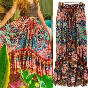 Anthropologie Allaire High-Low Maxi Skirt
